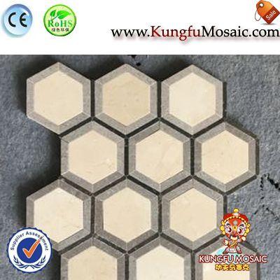 Stone Mosaic Hexagon Tiles