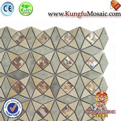 Yellow Water Jet Mosaic Floor Tile