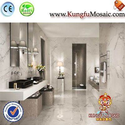 white marble wall tiles for bathroom
