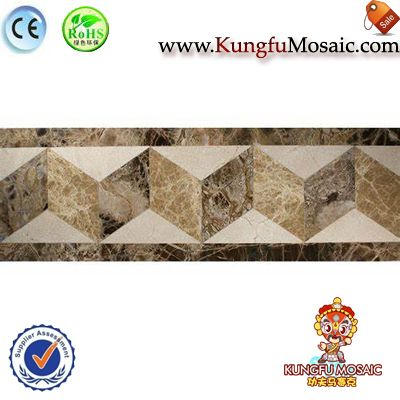 3D Pattern Border Marble Mosaic