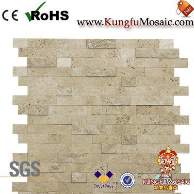 Mosaico de piedra de Split Color Beige