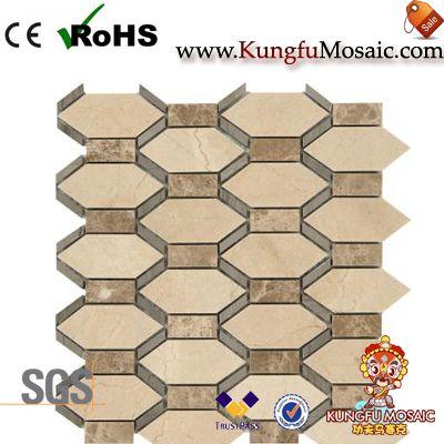 Beige Marble Floor Mosaic Tile