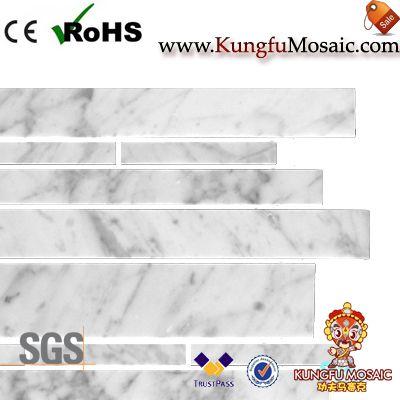 Bianco Carrara Linear Marble Mosaic
