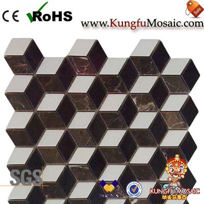 Brown Cololr 3D Marble Mosaic