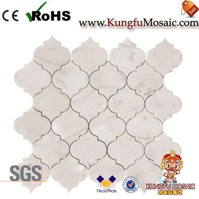 Calacatta Gold Marble Arabesque Mosaic