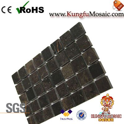 Dark Brown Square Stone Mosaic