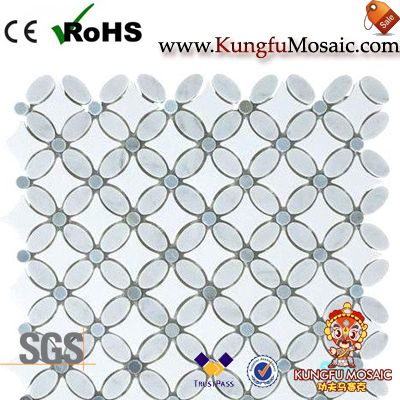 Flower White Stone Mosaic