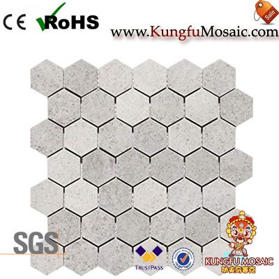 Grey Girl Stone Mosaic Hexagon