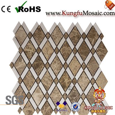 Light Emperador Diamond Stone Mosaic