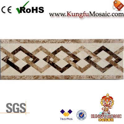 Spainish Beige Brown Marble Border Mosaic