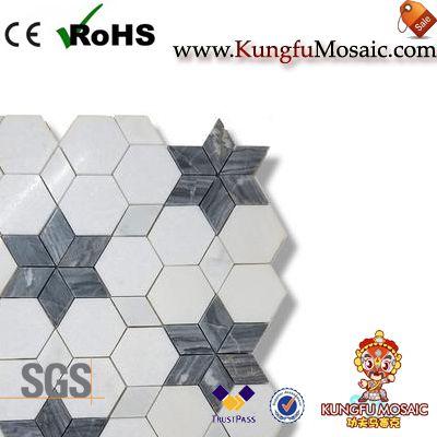 Star Pattern Mosaic Tile Backsplash