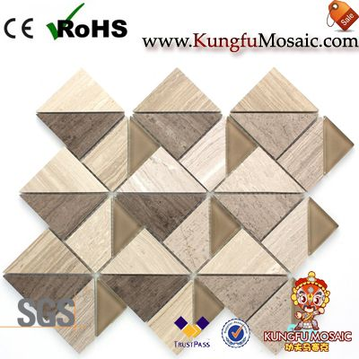Triangle Cofee Wood Marble Mosaic