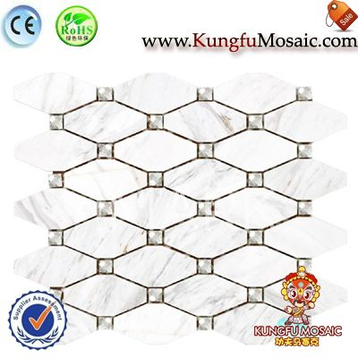 Volakas White Marble Hexagon Mosaic