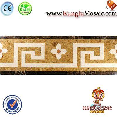 Waterjet Marmor Mosaik Grenze
