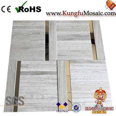 Wooden Mosaic Panel With Stainless