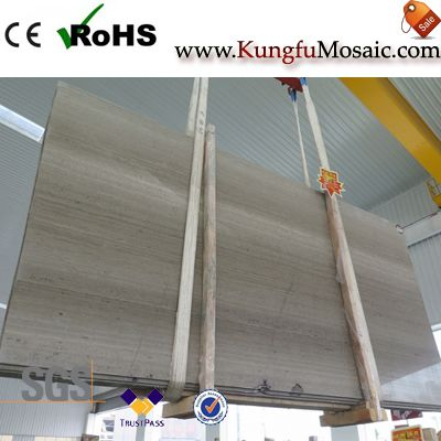 Chinese Grey Wood Marble Slab