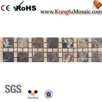 Emperador Dark Marble Border Tile