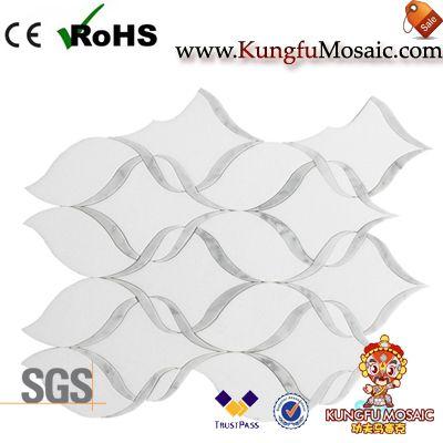 Mosaico de mármol de blanco Thassos Grecia
