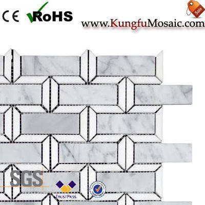 Indoor Brick White Marble Mosaic