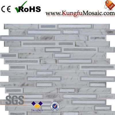 Interlocking White Stone Mosaic Tile