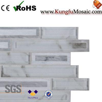 Блокируя белый камень мозаика плитка