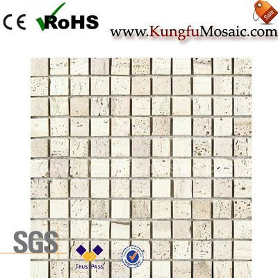 Light Square Brick Travertine Mosaic Tile