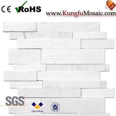 Acid Wash White Marble Mosaic Tiles