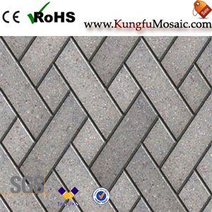 Mosaico de mármol gris baño