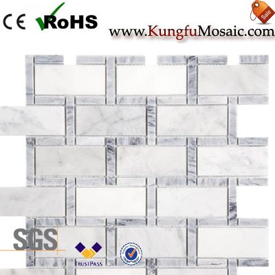 Backstein Muster Bianco Carrara Mosaik