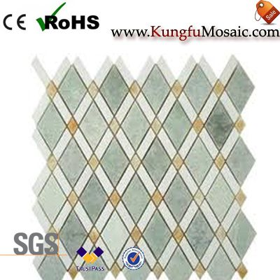 Diamond Mixed Green Marble Mosaic