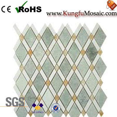 Diamant mixé de mosaïque de marbre vert