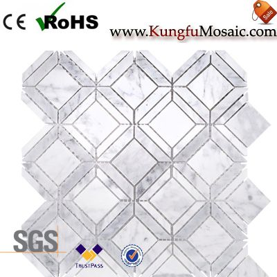 Factory Directly Sale White Marble Mosaic