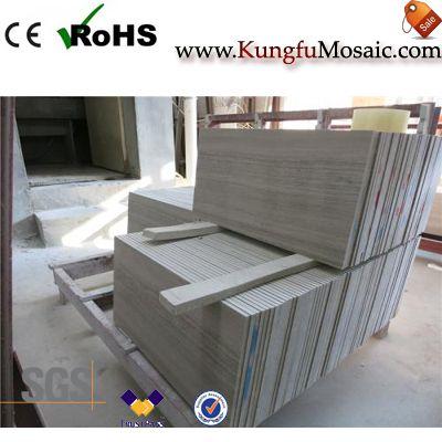 Graues Holz Marmor-Fußboden-Fliese