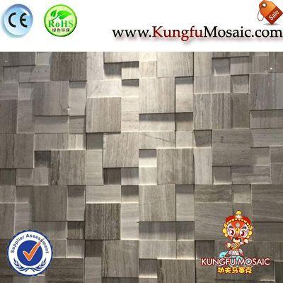 Grey Wood Marble Mosaic