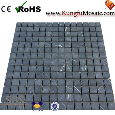 Honed Nero Marquina Marble Mosaic Tiles