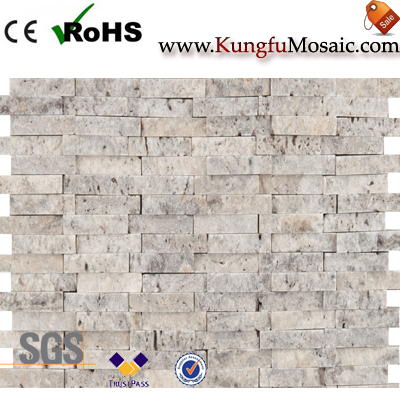 Fractura natural Travertino pared ladrillo mosaico