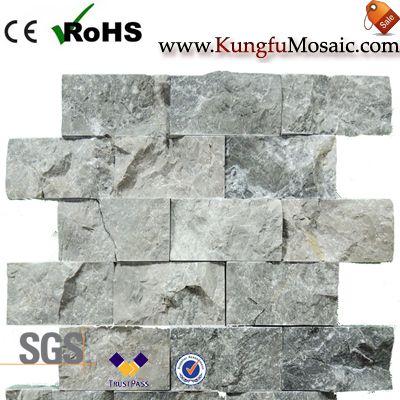 Brique fendue de mosaïque de marbre argenté