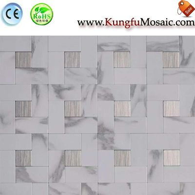 Stainless White Stone Mosaic Tiles