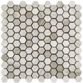 Wood Marble Mosaic Tile Hexagon