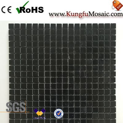 Absolute Black Marble Mosaic Square