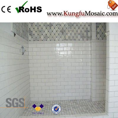 marble mosaic tile bathroom floor2