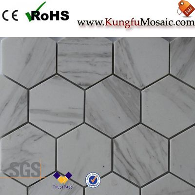 marble mosaic tile bathroom floor3
