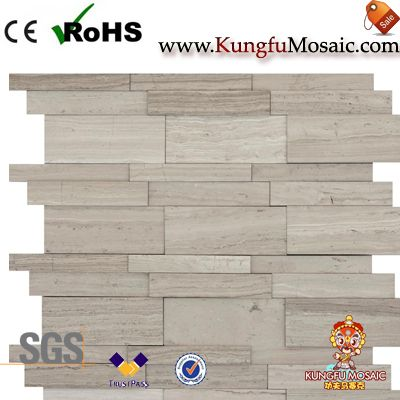 Athens Grey Marble Mosaic Wall Tiles