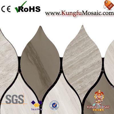 Athens Grey Marble Mosaic Waterjet