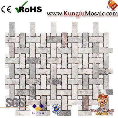 Salle de bains panier Weave Marble Mosaic Tiles