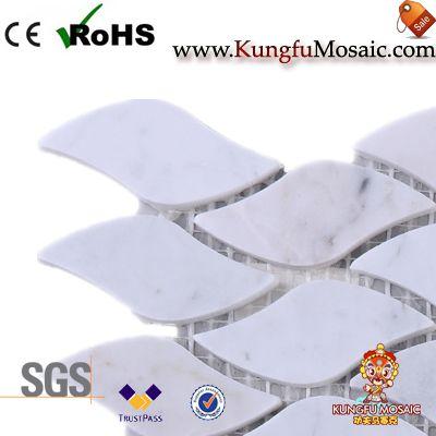 Carrara Wave Marble Mosaic Tile