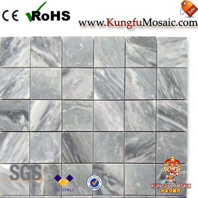 China Grey marble mosaic tile square