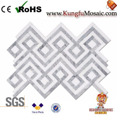 Diamond Bahroom Wall Marble Mosaic