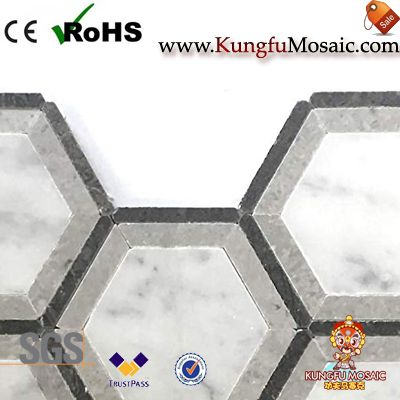 Hexagon Marble Mosaic Backsplash Tiles