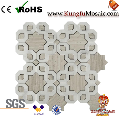 New Design Wooden Marble Mosaic Wall Tiles